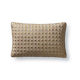 Embroidered Disk Decorative Pillow by Dransfield & Ross