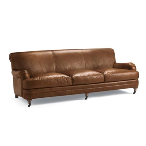 Alaster Leather Sofa Frontgate