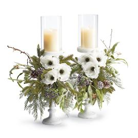 Natural Elements Pre-Decorated Candlesticks, Set of Two