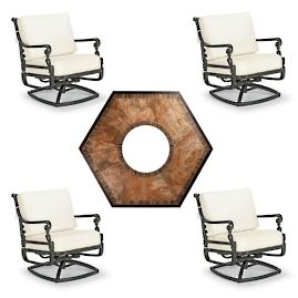 Carlisle 5-pc. Arezzo Fire Chat Set in Onyx