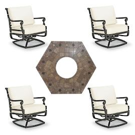 Carlisle 5-pc. Provenca Fire Chat Set in Onyx
