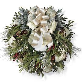 Grand Manor Cordless Wreath