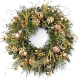 Shades of Gold Pre-Decorated Wreath