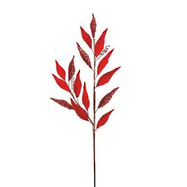 Red Laurel Leaf Sprays, Set of 12