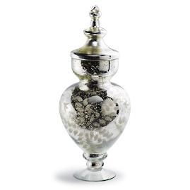 Mercury Glass Bon Bon Jar