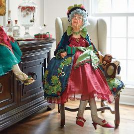 Holiday Lulu Lifesize Figure with Dog