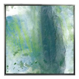 Peridot Brushes II Framed Outdoor Canvas