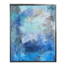 Abstract Blue II Framed Outdoor Canvas
