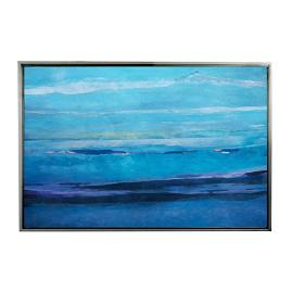 Ocean Blue I Framed Outdoor Canvas