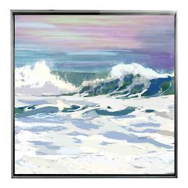 Salt Water Wave I Framed Outdoor Canvas