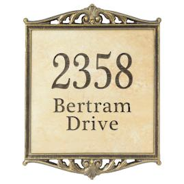 Bertram Stone Tile Address Plaque