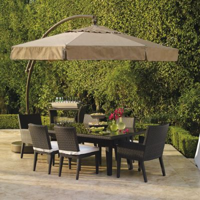 11 1 2 39 european side mount umbrella with valance frontgate for Outdoor furniture europe
