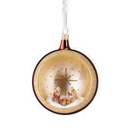 De Carlini Nativity Round Niche Ornament
