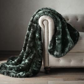 Runway Faux Fur Throw