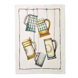 String Bar Glasses Kitchen Towels, Set of Two