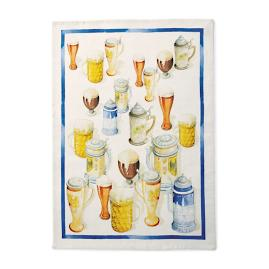 Beer Themed Kitchen Towels, Set of Two