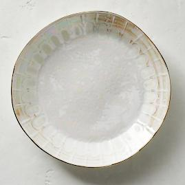 Donatella Mother of Pearl Dinner Plates, Set of