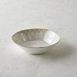 Donatella Mother of Pearl Pasta/Soup Bowls, Set of