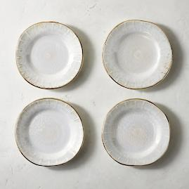 Donatella Mother of Pearl Appetizer Plates, Set of