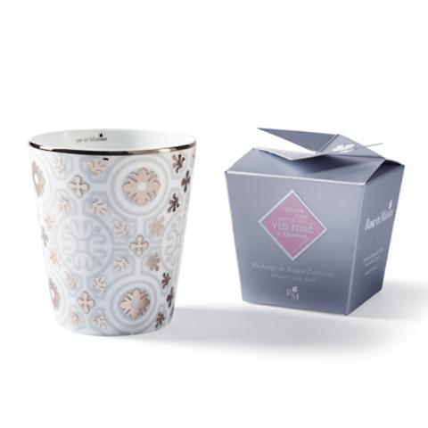 rose et marius provencal tile candle and tumbler. Black Bedroom Furniture Sets. Home Design Ideas