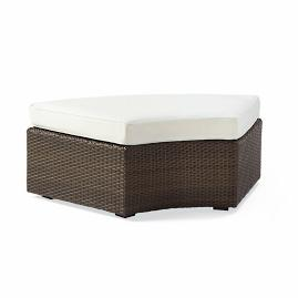Pasadena Curved Ottoman with Cushion