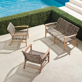 Isola 3-pc. Loveseat Set in Natural Finish