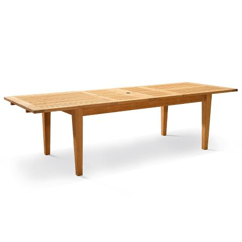 Cassara Teak Dining Extension Table in Natural Finish Frontgate