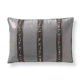 Prinn Metallic Beaded Decorative Pillow