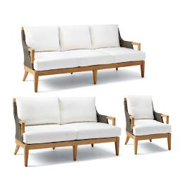 Roseau 3-pc. Sofa Set