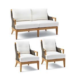 Roseau 3-pc. Sofa Set