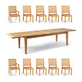 Cassara 11-pc. Estate Extension Dining Set in Natural