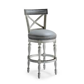 "Griffith X-Back Swivel Bar Height Bar Stool (30""H"