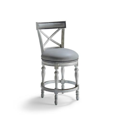Griffith X : Back Swivel Counter Height Bar Stool (26u0026quot;H Seat) : Frontgate