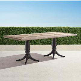 Avery Teak Top Dining Table