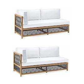 Catawba 2-pc. Left-Facing Sofa Set in Grey Finish
