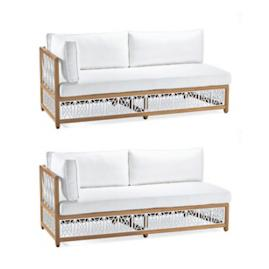 Catawba 2-pc. Left-Facing Sofa Set in White Finish