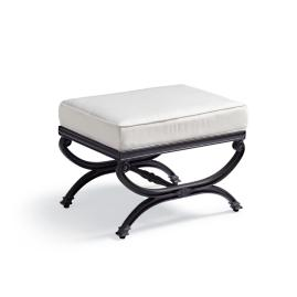 Carlisle X-Stool with Cushion in Onyx Finish