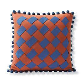 Tropical Basketweave Outdoor Pillow