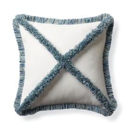 Criss Cross Fringe Outdoor Pillow