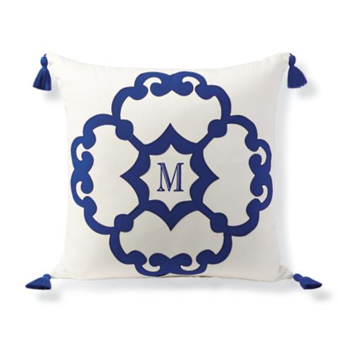 Romilly Monogram Outdoor Pillow