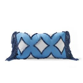 Diamond Fringe Outdoor Lumbar Pillow