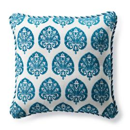 Denby Velvet Peacock Outdoor Pillow