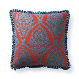 Timeless Ikat Sangria Outdoor Pillow