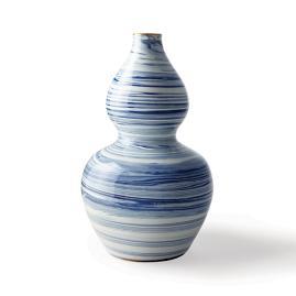 Blue Swirl Double Gourd