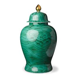 Malachite Large Covered Ginger Jar