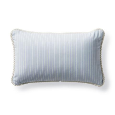 Cara Stripe Air Blue Outdoor Lumbar Pillow