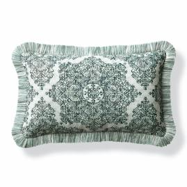 Kenzi Emerald Outdoor Lumbar Pillow