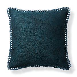 Contour Lines Peacock Outdoor Pillow
