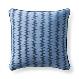 Dawei Stripe Air Blue Outdoor Pillow
