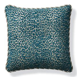 Leopard Luxe Peacock Outdoor Pillow